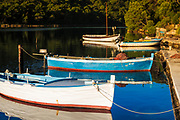 Fishing boats at Soline, Mljet Island National Park, Dalmatia, Croatia