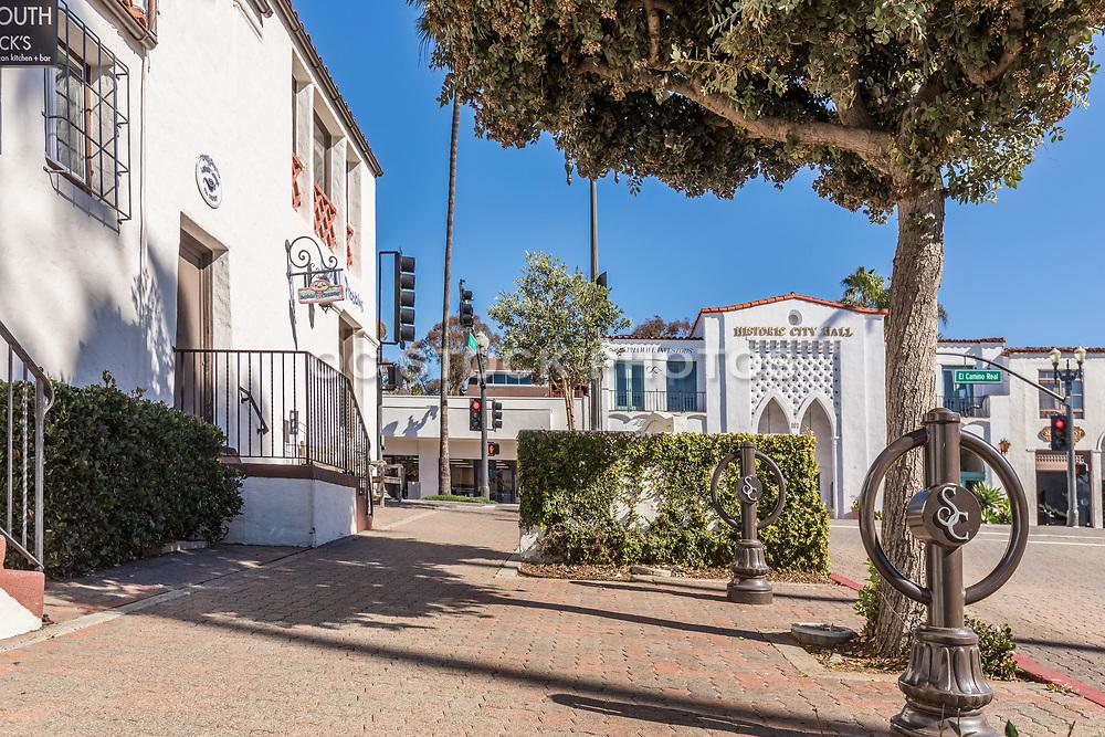 Historic City Hall Building on El Camino Real and Avenida Del Mar in San Clemente