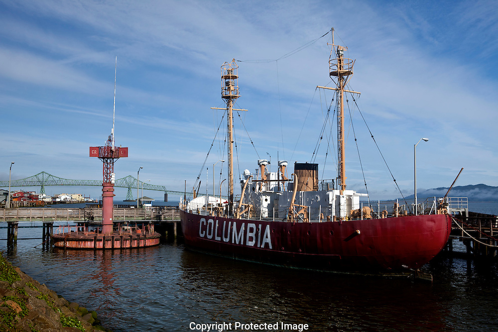 OR00932-00 - OREGON - Light Ship Columbia and a navagational buoy at the Columbia River Maritime Museum in Actoria.