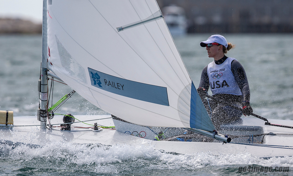 Railey Paige, (USA, Laser Radial)<br /> 2012 Olympic Games <br /> London / Weymouth