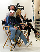 """Heidi Klum poses with camera crew..German Model Heidi Klum promoting the """"perfect bra""""..Victoria's Secret Store..The Grove..West Hollywood, CA.German Model Heidi Klum was promoting the """"perfect bra"""" at The Grove's Victoria's Secret in West Hollywood, CA, but since she was all covered up and not showing her body or the bra, most people didn't showed up..The hired security and a sales person, were in front of the store trying to get people to go inside by telling them, """"You can get a photo with Heidi Klum for free"""", but once inside people were disappointed when they saw Heidi was not wearing the bra..A hunk black male model waited on line to take a photo with Heidi, when his time came he asked Heidi if he could take his shirt off, she said of course, and they posed for the photo..A disappointed Heidi over the turnout avoided the awaiting paparazzi outside by sneaking throughout the back of the store with heavy security..Tuesday, March 03, 2009..Photo By Celebrityvibe.com.Website: www.celebrityvibe.com;.To license this image please call (212) 410 5354 or email: Celebrityvibe@gmail.com"""