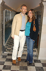 LUKE & LISA JOHNSON at the No Campaign's Summer Party - a celebration of the 'Non' and 'Nee' votes in the Europen referendum in France and The Netherlands held at The Peacock House, 8 Addison Road, London W14 on 5th July 2005.<br /><br />NON EXCLUSIVE - WORLD RIGHTS
