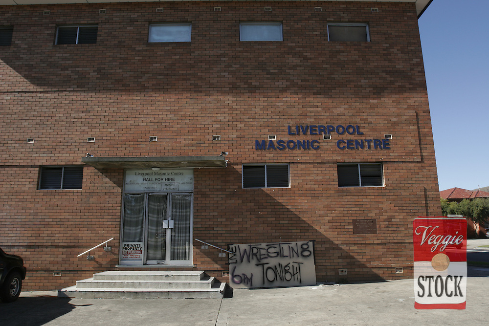 Liverpool Masonic Centre in Sydney, Saturday, July 28, 2007, before the PWWA Womens wrestling show.