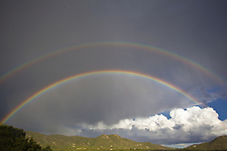 unique double rainbow in The Southwest