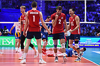 Celebration of Aaron Russell, Micah Christenson, Maxwell Holt and Matthew Anderson of USA.<br /> Torino 30-09-2018 Pala Alpitour <br /> FIVB Volleyball Men's World Championship <br /> Pallavolo Campionati del Mondo Uomini <br /> Finals / 3th place<br /> Serbia - USA  <br /> Foto Antonietta Baldassarre / Insidefoto