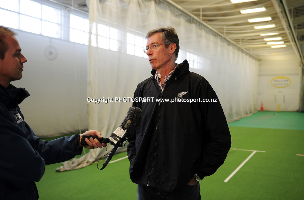 NZC Director of Cricket John Buchanan (former Cricket Australia coach) speaks with media. Press conference announcing a new national selection system. Auckland Cricket, Eden Park, Auckland, Wednesday 8 June 2011. Photo: Andrew Cornaga/photosport.co.nz
