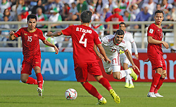 2019?1?12?.   ??????1???——D?????????.    1?12??????????·?????????????? Mehdi Taremi .    ??????????????2019???????D?????????2?0??????.    ????????..(SP)UAE-AL AIN-SOCCER-AFC ASIAN CUP 2019-GROUP D-VNM VS IRN..(190112) -- ABU DHABI, Jan. 12, 2019  Iran's Mehdi Taremi (3rd L) vies for the ball during the 2019 AFC Asian Cup group D match between Vietnam and Iran at the Al Nahyan Stadium in Abu Dhabi, the United Arab Emirates, Jan. 12, 2019. Iran won the match by 2-0. (Credit Image: © Xinhua via ZUMA Wire)