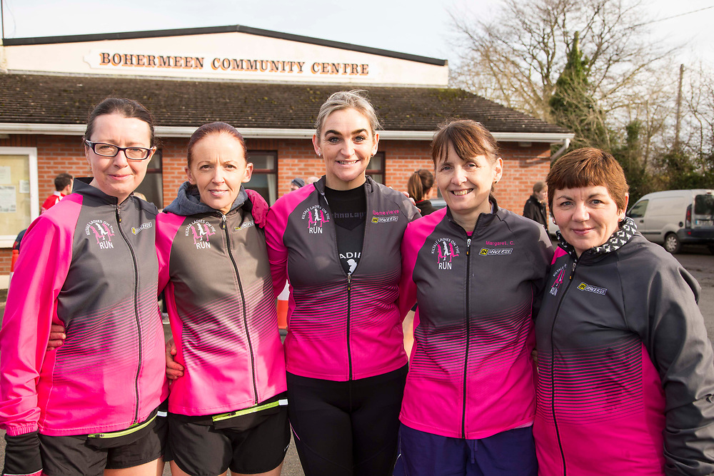 12/03/2017, Bohermeen AC 10k road Race & Half Marathon<br /> Kiltale Ladies on the Run: Pictured at the event, L-R Miriam Eichler, Sarah Somerville, Gen O`Reilly, Margaret Crehan, Linda Rooney<br /> David Mullen / www.cyberimages.net<br /> ISO: 250; Shutter: 1/250; Aperture: 6.3; <br /> File Size: 2.9MB<br /> Actuations: