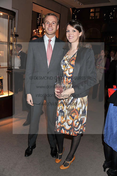 JAMES & GENEVIEVE OSBORNE at a party to celebrate the launch of Carol Woolton's book 'Drawing Jewels For Fashion' held at Asprey, 167 New Bond Street, London W1 on 10th November 2011.