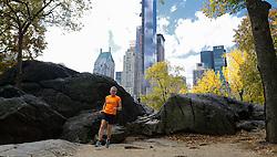 02-11-2013 ALGEMEEN: BVDGF NY MARATHON: NEW YORK <br /> Parcours verkenning en laatste training in het Central Park / Jacqueline<br /> ©2013-FotoHoogendoorn.nl