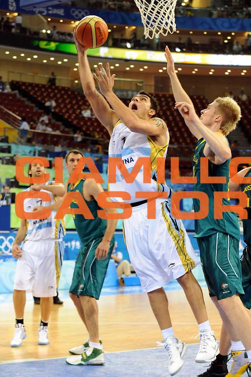 DESCRIZIONE : Beijing Pechino Olympic Games Olimpiadi 2008 Argentina Australia<br />GIOCATORE : Carlos Delfino<br />SQUADRA : Argentina<br />EVENTO : Olympic Games Olimpiadi 2008<br />GARA : Argentina Australia<br />DATA : 12/08/2008 <br />CATEGORIA : Tiro<br />SPORT : Pallacanestro <br />AUTORE : Agenzia Ciamillo-Castoria/G.Ciamillo<br />Galleria : Beijing Pechino Olympic Games Olimpiadi 2008 <br />Fotonotizia : Beijing Pechino Olympic Games Olimpiadi 2008 Argentina Australia<br />Predefinita :