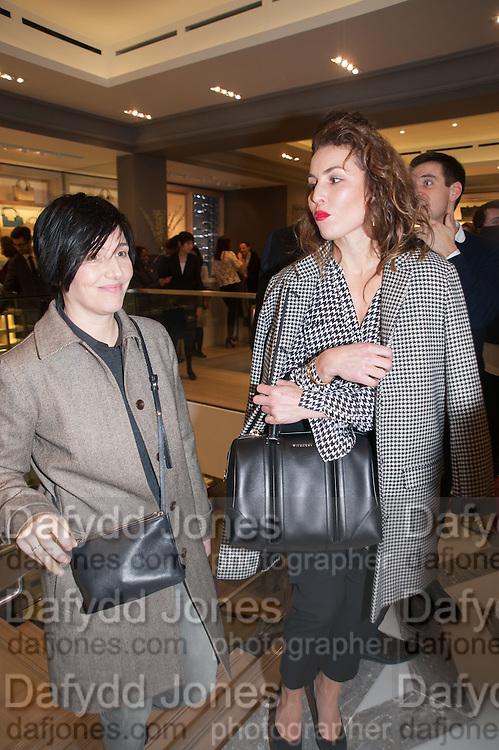 SHARLEEN SPITERI; NOOMI RAPACE;  Smythson Sloane St. Store opening. London. 6 February 2012.