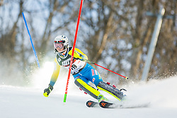 """Emelie Wikstroem (SWE) during FIS Alpine Ski World Cup 2016/17 Ladies Slalom race named """"Snow Queen Trophy 2017"""", on January 3, 2017 in Course Crveni Spust at Sljeme hill, Zagreb, Croatia. Photo by Žiga Zupan / Sportida"""