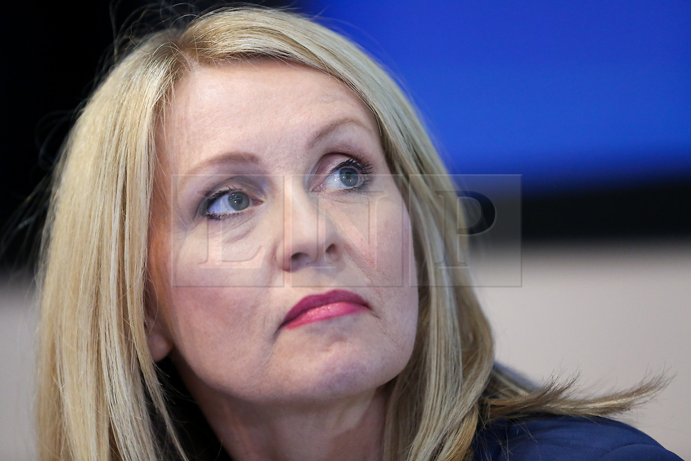 """© Licensed to London News Pictures. 10/06/2019. London, UK. Esther McVey MP, candidate for the leadership of the Conservative Party and to become Prime Minister at the Bruges Group's """"Brexit Leadership"""" event in Westminster. The Bruges Group is a think tank based in the UK, it advocates for a restructuring of Britain's relationship with the European Union and other European countries. Photo credit: Dinendra Haria/LNP"""