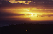 Sunset over Niihau, Kauai, Hawaii<br />