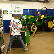 Gerald Cooper of Greeley at the John Deere display.