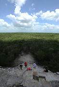 Yucatan Peninsula: Xcaret, Xel-Ha and Xplore parks. View from Coba great pyramid. (June 2015/ photo by Essdras M Suarez/ EMS Photography©)