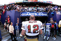 Oct 21, 2007: East Rutherford, NJ, USA: San Francisco 49ers quarterback (12) Trent Dilfer walks off the field after the New York Giants defeat the 49ers 33-15 at Giants Stadium.
