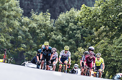 12.07.2019, Kitzbühel, AUT, Ö-Tour, Österreich Radrundfahrt, 6. Etappe, von Kitzbühel nach Kitzbüheler Horn (116,7 km), im Bild Spitzengruppe, v.l.: Marek Rutkiewicz (Wibatech Merx, POL), Pieter Vanspeybrouck (Wanty Groupe Gobert, BEL), Daniel Auer (Maloja Pushbikers, AUT), Lukas Spengler (Wallonie Bruxelles, CHE) // during 6th stage from Kitzbühel to Kitzbüheler Horn (116,7 km) of the 2019 Tour of Austria. Kitzbühel, Austria on 2019/07/12. EXPA Pictures © 2019, PhotoCredit: EXPA/ JFK
