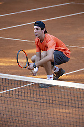 June 18, 2018 - L'Aquila, Italy - Guilherme Clezar during match between Riccardo Balzerani/Giovanni Fonio (ITA) and Guilherme Clezar (BRA)/Alejandro Gonzalez(COL) during day 3 at the Internazionali di Tennis Citt dell'Aquila (ATP Challenger L'Aquila) in L'Aquila, Italy, on June 18, 2018. (Credit Image: © Manuel Romano/NurPhoto via ZUMA Press)