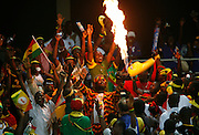 Fans celebrate Ghana,s victory over Morocco.  Ghana V Morocco. African Cup of Nations 2008. Ohene Djan Stadium. Accra. Ghana. West Africa..28th January 2008..©Picture Zute Lightfoot.  07939 108077. www.lightfootphoto.co.uk