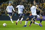Everton defender Yerry Mina (13) battles with Millwall forward Lee Gregory (9)  during the The FA Cup fourth round match between Millwall and Everton at The Den, London, England on 26 January 2019.