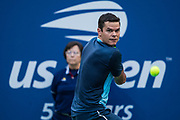 FLUSHING MEADOW, NY - SEPTEMBER 02: MILOS RAONIC (CAN) day seven of the 2018 US Open on September 02, 2018, at Billie Jean King National Tennis Center in Flushing Meadow, NY. (Photo by Chaz Niell/Icon Sportswire)