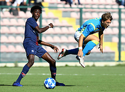 November 6, 2018 - Naples, Italy - SSC Napoli - Paris Saint-Germain : UEFA Youth League Group C ..Maxen Kapo of Paris Saint-Germain and Georgios Vrakas of Napoli at Iannello Stadium in Frattamaggiore, Italy on November 6, 2018. (Credit Image: © Matteo Ciambelli/NurPhoto via ZUMA Press)