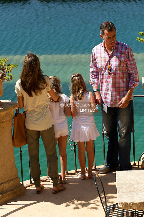 King Felipe VI of Spain, Queen Letizia of Spain, Crown Princess Leonor and Princess Sofia visit Sierra de Tramuntana, Finca Raixa, on August 11, 2014 in Palma de Mallorca, Spain