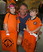 Grant Gardiner brought his kids Ava and Greig from Hertfordshire for United's open day - Dundee United open day at Tannadice<br /> <br />  - Pictures © David Young