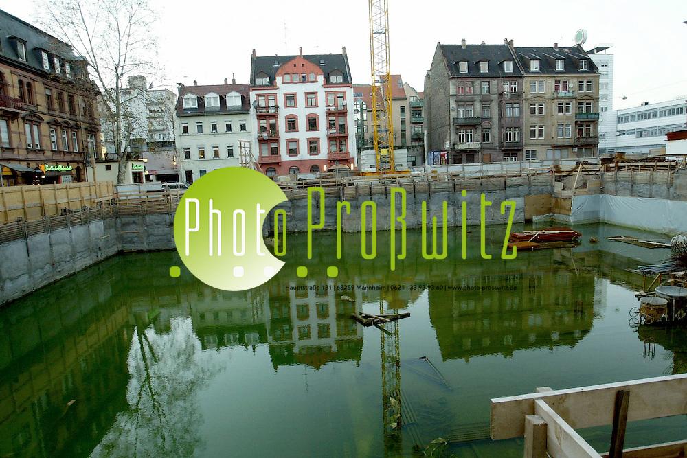 Mannheim.  U2 Baustelle Tiefgarage. <br /><br />Bild: Pro&szlig;witz