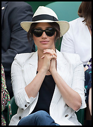 July 4, 2019 - London, London, United Kingdom - Meghan Markle, The Duchess of Sussex, watches Serena Williams second round match on day four of the Wimbledon Tennis Championships in London. (Credit Image: © Stephen Lock/i-Images via ZUMA Press)