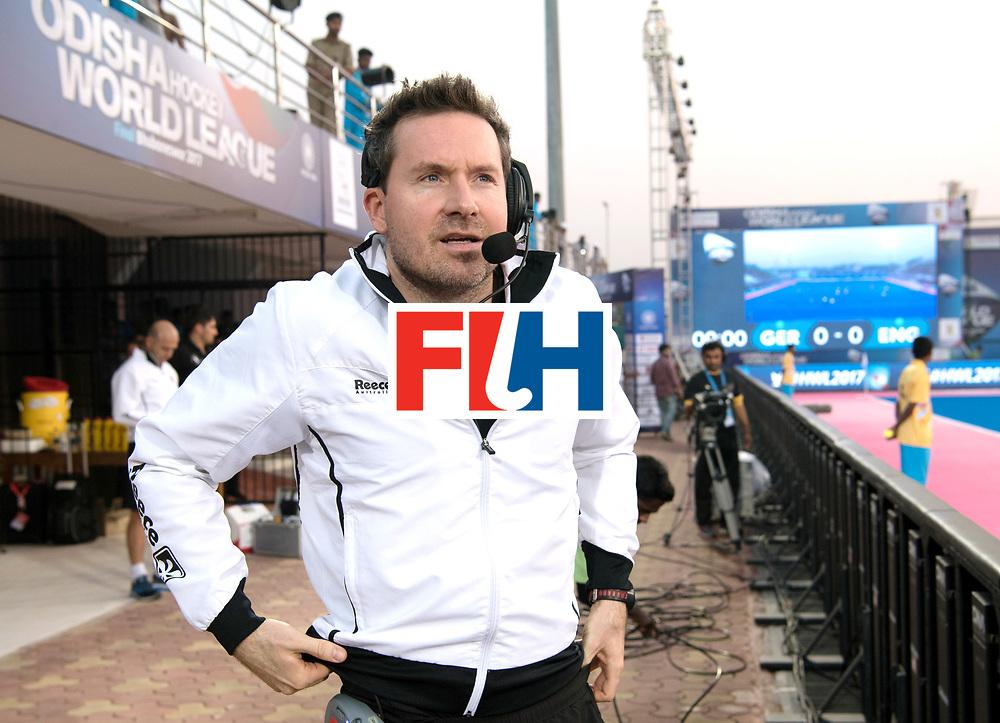 Odisha Men's Hockey World League Final Bhubaneswar 2017<br /> Match id:01<br /> Germany v England<br /> Foto:  Gwerman coach Stefan Kermas before the match.<br /> WORLDSPORTPICS COPYRIGHT FRANK UIJLENBROEK