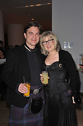 Actor JOHN MICHIE and his wife CAROL at a Burns Night dinner in aid of cancer charity CLIC Sargent held at St.Martin's Lane Hotel, London on 25th January 2011.