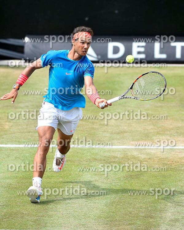 12.06.2015, Tennis Club Weissenhof, Stuttgart, GER, ATP Tour, Mercedes Cup Stuttgart, Viertelfinale, im Bild Rafael Nadal (ESP) Aktion // during quarter Finals of Mercedes Cup of ATP world Tour at the Tennis Club Weissenhof in Stuttgart, Germany on 2015/06/12. EXPA Pictures &copy; 2015, PhotoCredit: EXPA/ Eibner-Pressefoto/ Weber<br /> <br /> *****ATTENTION - OUT of GER*****
