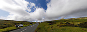 UK, September 15 2011: View looking towards the summit of the Haytor KOM competition during the fifth stage of the 2011 Tour of Britain. The stage started in Exeter and finished in Exmouth. Copyright 2011 Peter Horrell