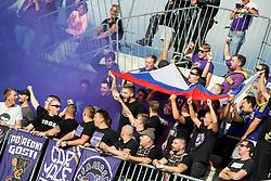Viole, Supporters of Maribor during football match between NK Triglav Kranj and NK Maribor in Round #7 of Prva liga Telekom Slovenije 2018/19, on September 2, 2018 in Kranj, Slovenia. Photo by Vid Ponikvar / Sportida