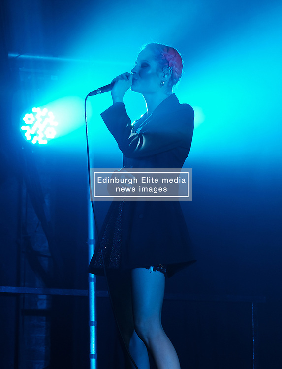 Nina Nesbitt at SWG3 in Glasgow as part of her 'The Sun Will Come Up' UK Tour 2019 <br /> <br /> Pictured: Nina Nesbitt<br /> <br /> (c) Aimee Todd | Edinburgh Elite media