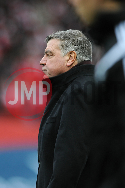 West Ham Manager, Sam Allardyce - Photo mandatory by-line: Dougie Allward/JMP - Mobile: 07966 386802 - 25/01/2015 - SPORT - Football - Bristol - Ashton Gate - Bristol City v West Ham United - FA Cup Fourth Round