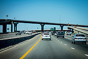 Motorway, or multi layered highway intersection, in Houston, Texas.