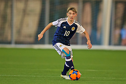 EDINBURGH, SCOTLAND - Friday, November 4, 2016: Scotland's Billy Gilmour in action against Republic of Ireland during the Under-16 2016 Victory Shield match at ORIAM. (Pic by David Rawcliffe/Propaganda)