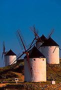 SPAIN, LA MANCHA traditional windmills near Toledo