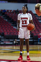 NORMAL, IL - October 30: Juliunn Redmond during a college women's basketball game between the ISU Redbirds and the Lions on October 30 2019 at Redbird Arena in Normal, IL. (Photo by Alan Look)