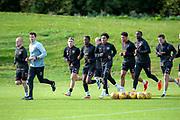 Heart of Midlothian players train ahead of the visit of Livingston, at Oriam Sports Performance Centre, Riccarton, Edinburgh, Scotland on 20 September 2018.