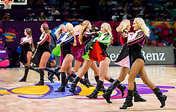 Cheerleaders Red Foxes perform during basketball match between National Teams  Spain and Russia at Day 18 in 3rd place match of the FIBA EuroBasket 2017 at Sinan Erdem Dome in Istanbul, Turkey on September 17, 2017. Photo by Vid Ponikvar / Sportida