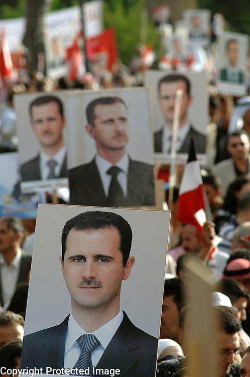 Support for Bashar Al Assad Damascus Syria