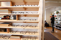General views of the interior and glasses at Warby Parker in the Puck Building on Lafayette Street. Shot on March 30, 2012 ..