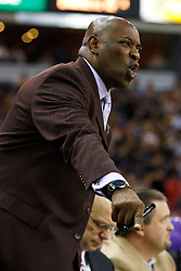March 14, 2011; Sacramento, CA, USA;  Golden State Warriors head coach Keith Smart on the sidelines against the Sacramento Kings during the first quarter at the Power Balance Pavilion.