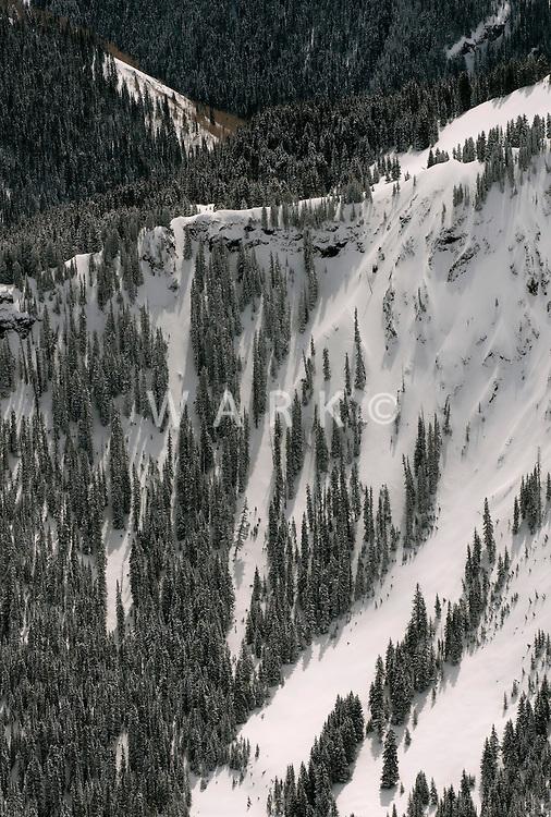 Winter mountain slope, Gunnison County, Colorado. April 2014
