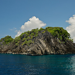 Cliffy island in the Misool area, West-Papua.